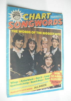 Chart Songwords magazine - No 6 - July 1979 - Wings cover