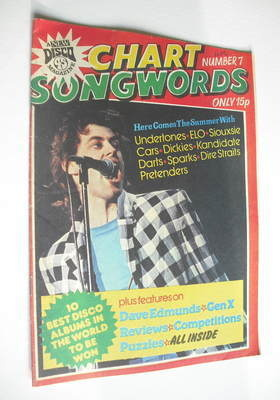Chart Songwords magazine - No 7 - August 1979 - Bob Geldof cover
