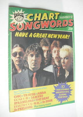 Chart Songwords magazine - No 12 - January 1980 - The Tourists cover