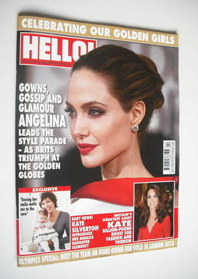 <!--2012-01-30-->Hello! magazine - Angelina Jolie cover (30 January 2012 -