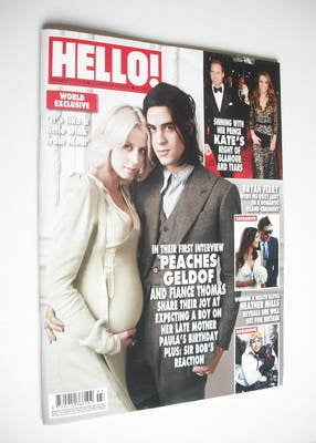<!--2012-01-23-->Hello! magazine - Peaches Geldof cover (23 January 2012 -