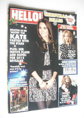<!--2011-12-23-->Hello! magazine - Kate Middleton cover (23 December 2011 -