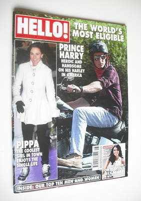 <!--2011-12-05-->Hello! magazine - Prince Harry cover (5 December 2011 - Is