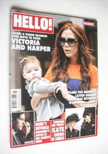 <!--2011-11-28-->Hello! magazine - Victoria Beckham and Harper cover (28 No