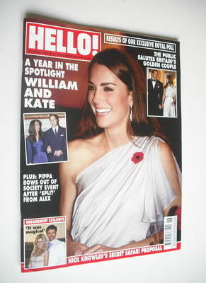 <!--2011-11-21-->Hello! magazine - Kate Middleton cover (21 November 2011 -