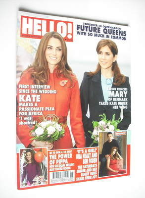 <!--2011-11-14-->Hello! magazine - Kate Middleton and Princess Mary of Denm