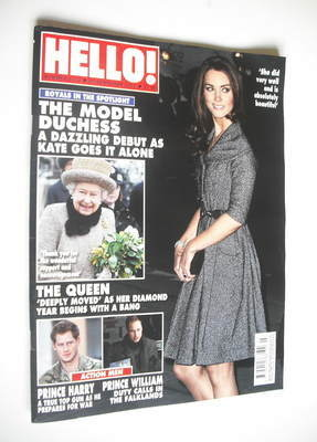 <!--2012-02-20-->Hello! magazine - Kate Middleton cover (20 February 2012 -