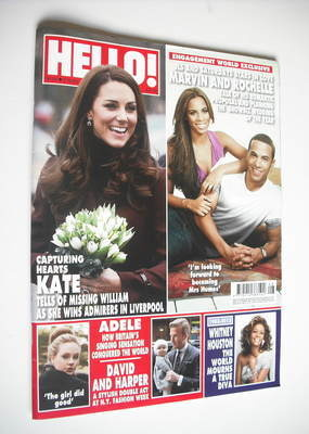 <!--2012-02-27-->Hello! magazine - Kate Middleton cover (27 February 2012 -