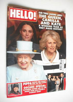 <!--2012-03-12-->Hello! magazine - The Queen, Camilla and Kate cover (12 Ma