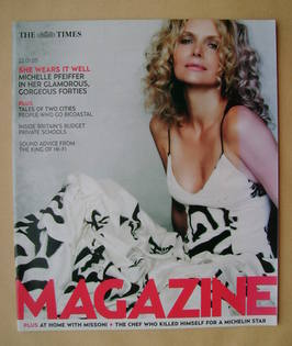 <!--2005-01-22-->The Times magazine - Michelle Pfeiffer cover (22 January 2