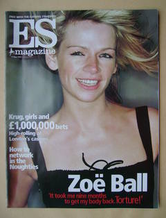 <!--2002-05-17-->Evening Standard magazine - Zoe Ball cover (17 May 2002)