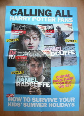 Daniel Radcliffe / Harry Poster Time Out magazine poster
