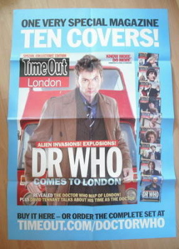 Doctor Who Time Out magazine poster