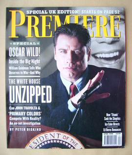 Premiere magazine - John Travolta cover (April 1998)