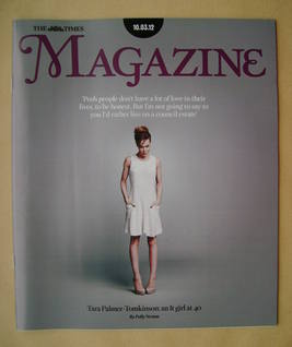 <!--2012-03-10-->The Times magazine - Tara Palmer-Tomkinson cover (10 March