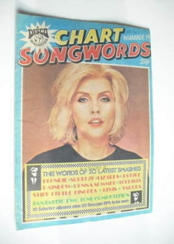 Chart Songwords magazine - No 14 - March 1980 - Blondie cover