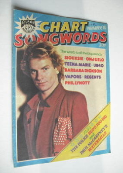 Chart Songwords magazine - No 18 - July 1980 - Sting cover