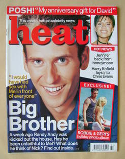 <!--2000-08-19-->Heat magazine - Andrew Davidson cover (19-25 August 2000 -