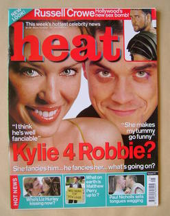 <!--2000-06-24-->Heat magazine - Kylie Minogue and Robbie Williams cover (2