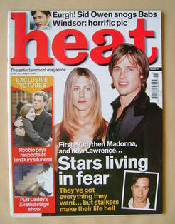 <!--2000-04-13-->Heat magazine - Jennifer Aniston and Brad Pitt cover (13-1
