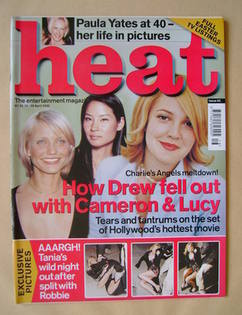 Heat magazine - Cameron Diaz, Lucy Liu, Drew Barrymore cover (20-26 April 2000 - Issue 62)