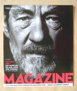 <!--2007-03-31-->The Times magazine - Ian McKellen cover (31 March 2007)