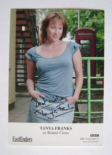 Tanya Franks autographed photo (ex-EastEnders actor)