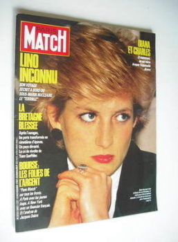 Paris Match magazine - 13 November 1987 - Princess Diana cover