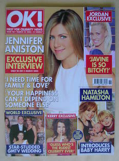 <!--2005-03-22-->OK! magazine - Jennifer Aniston cover (22 March 2005 - Iss
