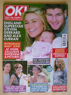 <!--2006-06-06-->OK! magazine - Steven Gerrard, Alex Curran and baby Lexie