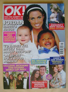 <!--2006-05-30-->OK! magazine - Jordan, Harvey and Junior cover (30 May 200