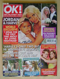 <!--2005-04-26-->OK! magazine - Jordan and Harvey cover (26 April 2005 - Is
