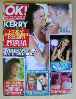 <!--2005-11-08-->OK! magazine - Kerry Katona and Dave Cunningham cover (8 N
