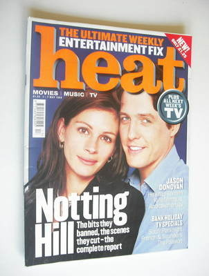 <!--1999-05-01-->Heat magazine - Hugh Grant and Julia Roberts cover (1-7 Ma