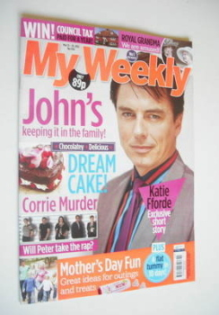 My Weekly magazine (13 March 2012 - John Barrowman cover)