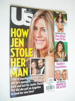 US Weekly magazine - 4 July 2011 - Jennifer Aniston cover