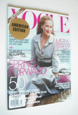 <!--2012-01-->US Vogue magazine - January 2012 - Meryl Streep cover