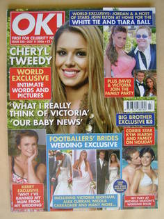 <!--2006-07-11-->OK! magazine - Cheryl Tweedy cover (11 July 2006 - Issue 5