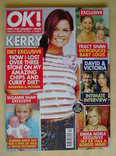 <!--2005-03-29-->OK! magazine - Kerry Katona cover (29 March 2005 - Issue 4