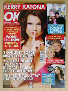 <!--2004-12-14-->OK! magazine - Kerry Katona cover (14 December 2004 - Issu