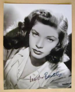 Lauren Bacall autograph
