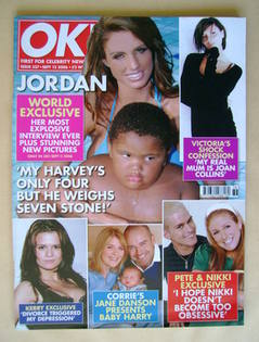 <!--2006-09-12-->OK! magazine - Jordan and Harvey cover (12 September 2006