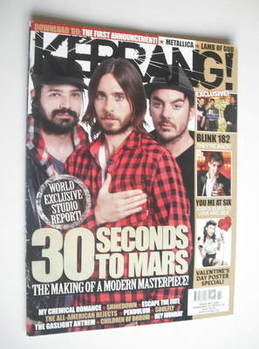 <!--2009-02-14-->Kerrang magazine - 30 Seconds To Mars cover (14 February 2