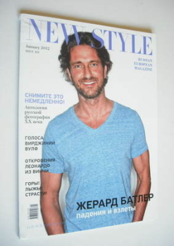 New Style magazine - Gerard Butler cover (January 2012)
