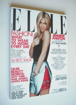 US Elle magazine - November 2011 - Jennifer Aniston cover