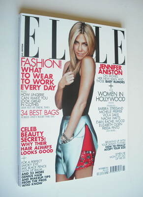 <!--2011-11-->US Elle magazine - November 2011 - Jennifer Aniston cover