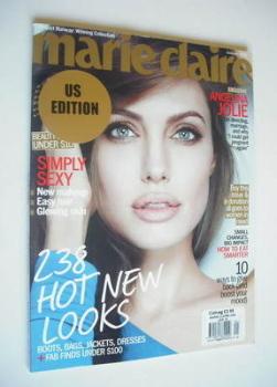 US Marie Claire magazine - January 2012 - Angelina Jolie cover