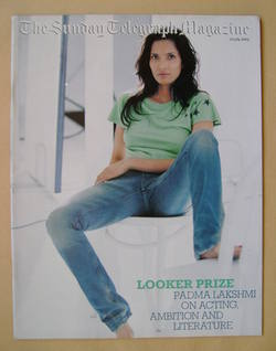 The Sunday Telegraph magazine - Padma Lakshmi cover (20 July 2003)
