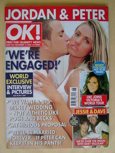 <!--2004-11-16-->OK! magazine - Jordan and Peter Andre cover (16 November 2