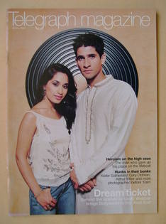 <!--2002-05-18-->Telegraph magazine - Preeya Kalidas and Raza Jaffrey cover